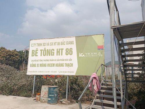Bắc Giang: Công ty TNHH và Sản xuất HT 86 ngang nhiên xây dựng trạm trộn bê tông trên đất nông nghiệp