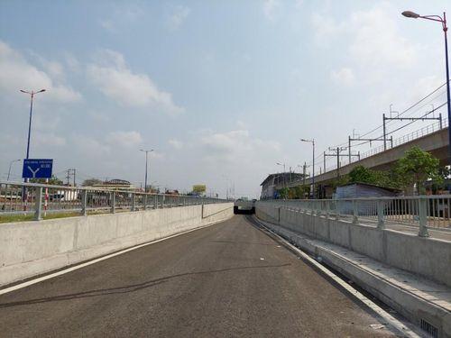 Hầm chui trước bến xe Miền Đông mới trước 2 tháng thông xe