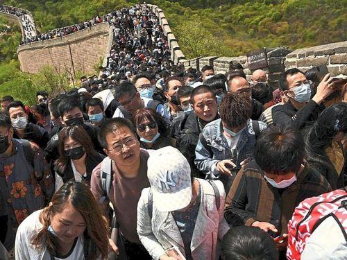 Các điểm du lịch ở Trung Quốc kẹt cứng trong kỳ nghỉ lễ