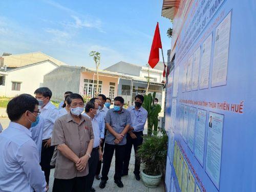 Phó Chủ tịch Quốc hội Nguyễn Đức Hải kiểm tra công tác bầu cử tại Huế