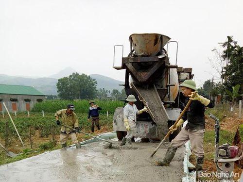 Nghệ An: Nỗ lực thực hiện chương trình xây dựng nông thôn mới