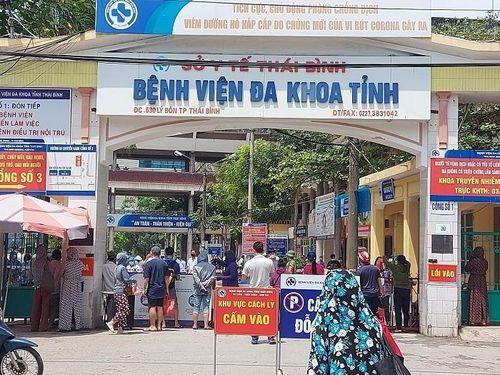 Phong tỏa tạm thời Bệnh viện Đa khoa Thái Bình