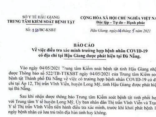 Trước khi xét nghiệm dương tính với SARS-COV-2, bệnh nhân BN2989 từng đến Kiên Giang