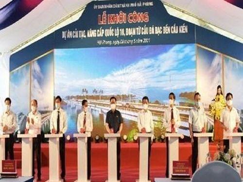 Chủ tịch Quốc hội dự Lễ khởi công Dự án cải tạo, nâng cấp Quốc lộ 10