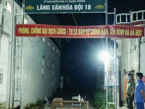 Điện Biên phong tỏa một khu dân cư có bệnh nhân dương tính với SARS-CoV-2