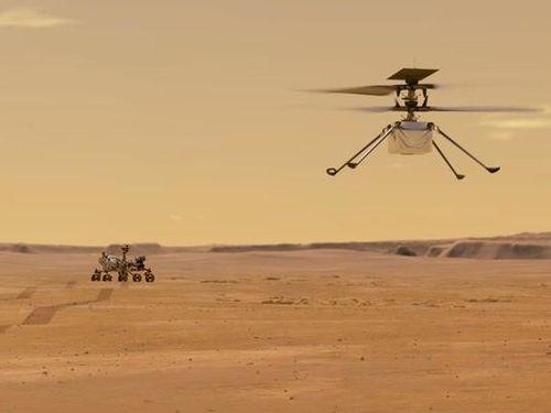 NASA công bố âm thanh của trực thăng trên sao Hỏa