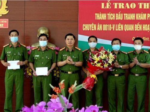 Quảng Bình: Trao thưởng cho ban chuyên án triệt phá băng 'tín dụng đen'