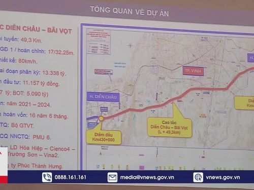 Dự án cao tốc Diễn Châu – Bãi Vọt đầu tư theo hình thức PPP