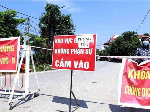 Kết thúc thời gian cách ly xã hội sớm 2 ngày đối với thị trấn Yên Lạc