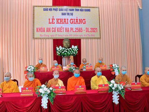 Hậu Giang: Lễ khai giảng khóa An cư kiết hạ Phật lịch 2565 tại chùa Quan Âm