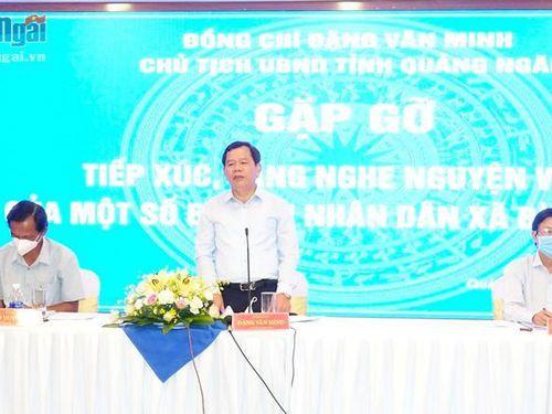Gặp gỡ, tiếp xúc với người dân trong vùng Dự án Thép Hòa Phát Dung Quất
