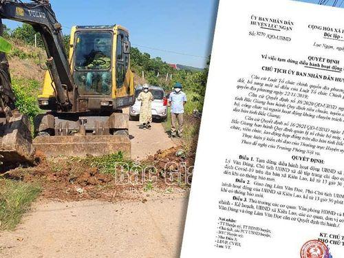 Bắc Giang: Thêm một Chủ tịch UBND xã ở Lục Ngạn bị tạm dừng điều hành hoạt động
