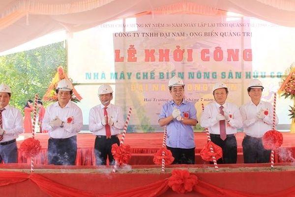 Khởi công nhà máy chế biến nông sản hữu cơ đầu tiên tại Quảng Trị