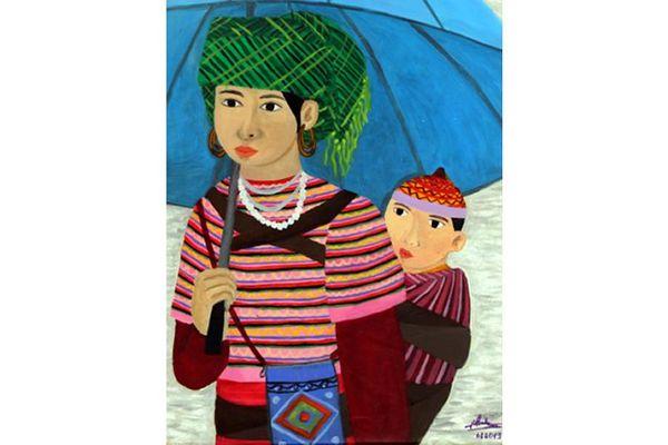 Tác phẩm của họa sĩ khiếm thính Việt Nam được trưng bày tại Italia