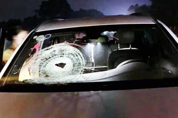 Tin mới vụ Mercedes bị ném đá thủng kính, 1 người bị thương trên cao tốc Hà Nội-Thái Nguyên