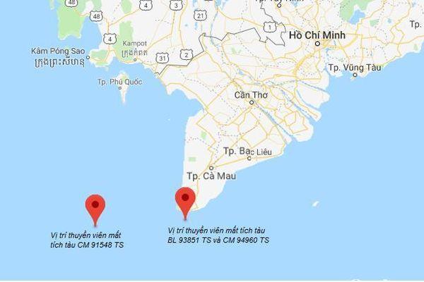 Tìm kiếm 4 thuyền viên mất tích trên vùng biển phía Nam