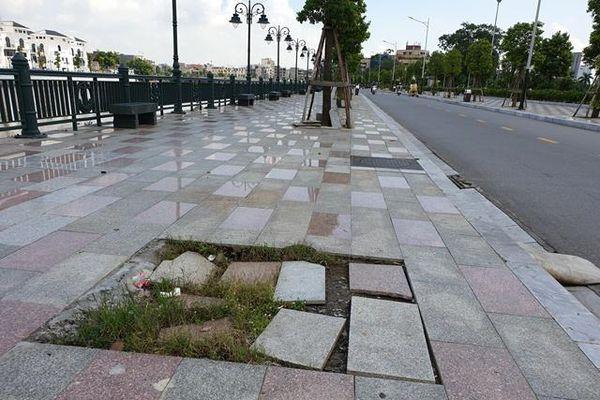 Dự án Công viên cây xanh Tam Bạc (Hải Phòng): Chưa nghiệm thu đã xuống cấp