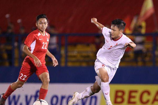 Video bàn thắng U18 Việt Nam 3-0 U18 Singapore