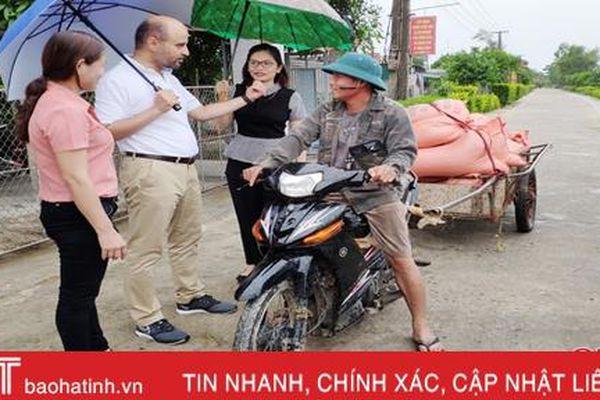 Tổng Giám đốc Quỹ OFID thực địa các công trình đầu tư tại Hà Tĩnh