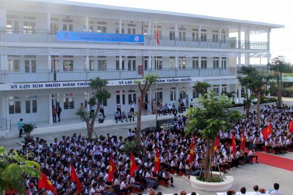 Trungnam Group bàn giao ngôi trường 45 tỷ đồng cho tỉnh Ninh Thuận