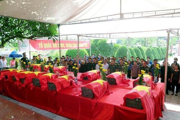 Thái Nguyên an táng 14 hài cốt liệt sĩ