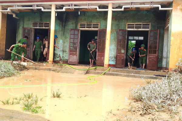 Nước lũ đã rút gần hết tại các địa phương ở Hà Tĩnh
