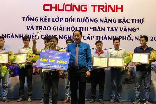 Thí sinh Phúc Thướng, đoạt giải Bàn tay vàng ngành Điện công nghiệp cấp TP năm 2019
