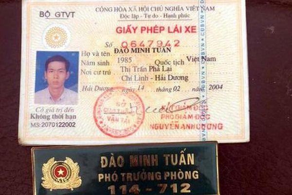 Tạm giữ hình sự kẻ mạo danh lãnh đạo Phòng CSGT Hà Nội, ra tận chốt xin cho người thân vi phạm