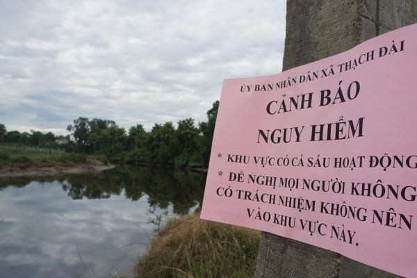 'Cấm sông', truy tìm cá sấu bất ngờ xuất hiện tại Hà Tĩnh