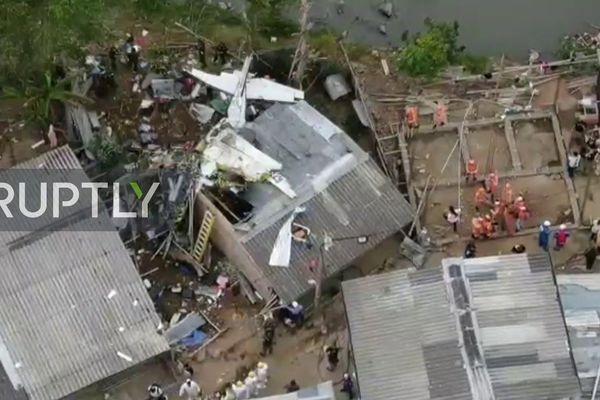 Máy bay chở khách gặp nạn ở Colombia, 10 người thương vong