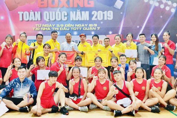 Boxing nữ Hà Nội xếp Nhất toàn quốc