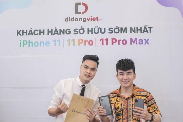 Nhiều nghệ sĩ mua iPhone 11 tại Di Động Việt