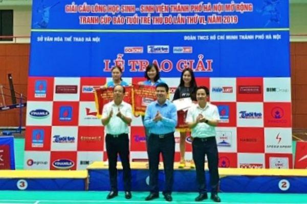 Bế mạc Giải cầu lông học sinh - sinh viên TP Hà Nội mở rộng lần thứ VI
