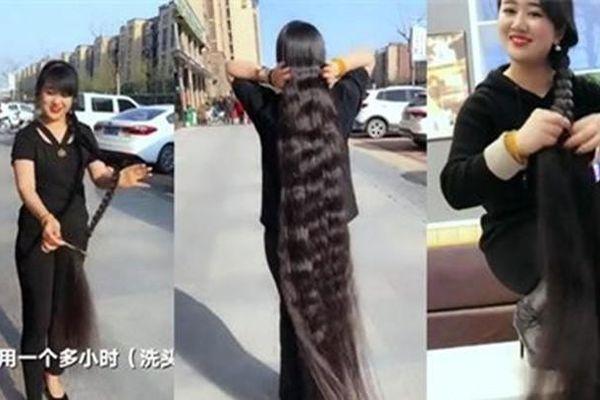 Bỗng nổi tiếng khi khoe bộ tóc dài gần 2 mét, 15 năm không cắt
