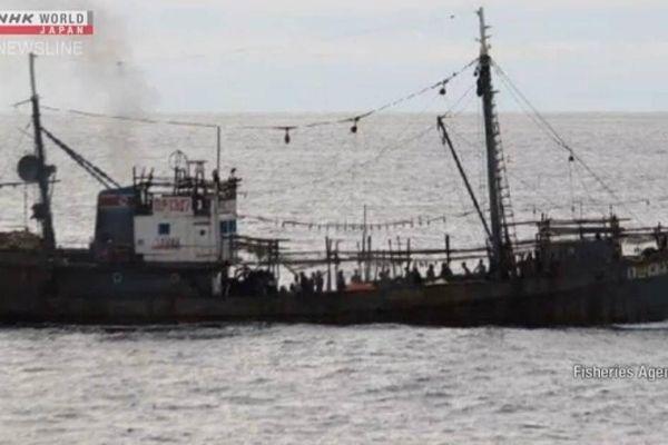Tàu tuần tra Nhật Bản va chạm tàu cá Triều Tiên, 60 người rơi xuống biển