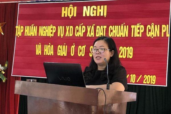 Sở Tư pháp Cao Bằng tổ chức Hội nghị tập huấn kỹ năng hòa giải cơ sở