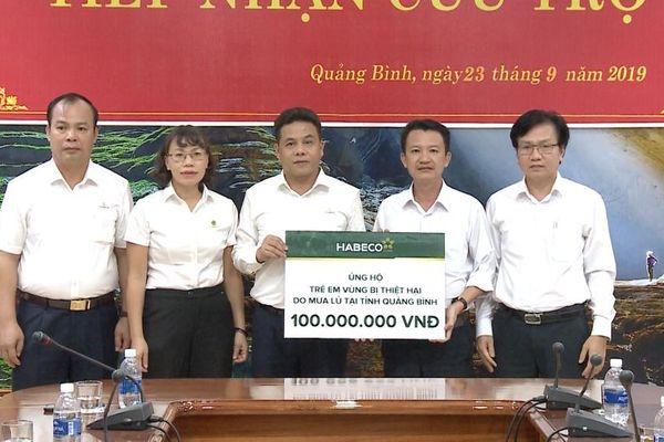 HABECO ủng hộ 200 triệu đồng hỗ trợ cho trẻ em vùng bị thiệt hại do mưa lũ tại Quảng Bình và Quảng Trị