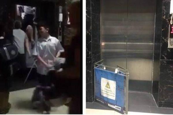 Kẹt thang máy chung cư Linh Đàm, gần chục cư dân hoảng sợ