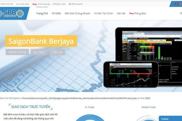 Chứng khoán SaigonBank Berjaya bị rút nghiệp vụ tự doanh