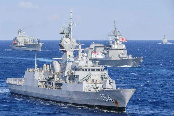 Hải quân Mỹ, Nhật, Australia và Canada tập trận chung trên biển
