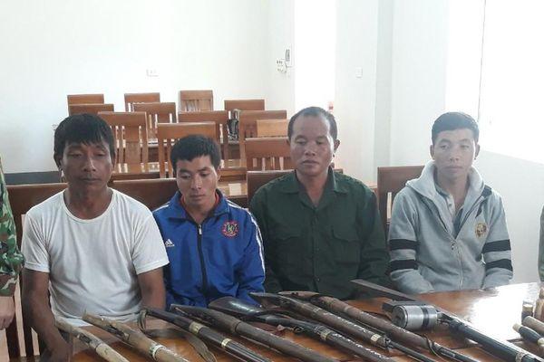 Xử phạt 4 thanh niên sử dụng súng trái phép ở khu vực biên giới Nghệ An