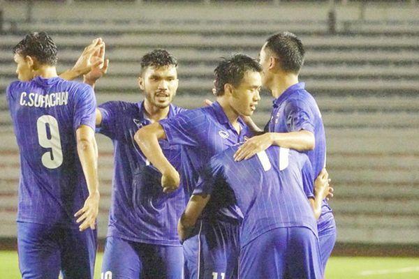 U22 Thái Lan thắng nghẹt thở 2-0 U22 Lào