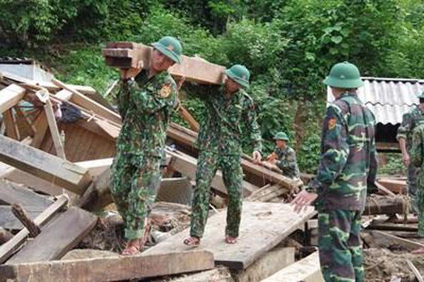 Lực lượng nòng cốt phòng, chống thiên tai trên biên giới
