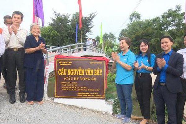Khánh thành cây cầu mang tên Anh hùng Nguyễn Văn Bảy