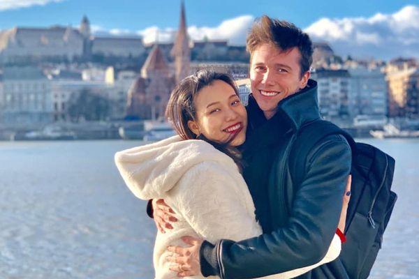MC Hoàng Oanh cùng chồng Tây du lịch châu Âu hưởng tuần trăng mật muộn