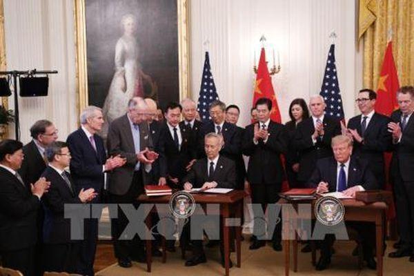Bắt đầu thảo luận về thỏa thuận thương mại Mỹ-Trung 'Giai đoạn 2'