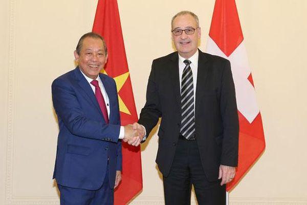 Phát huy tiềm năng hợp tác giữa Việt Nam và Thụy Sĩ