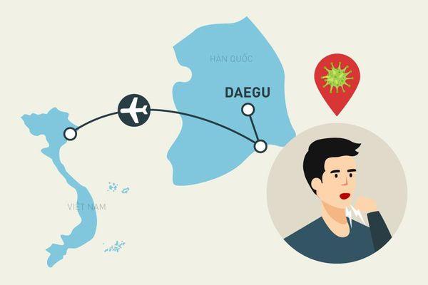 Hành trình di chuyển của bệnh nhân mắc Covid-19 trở về từ Hàn Quốc