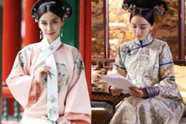 Nhan sắc một chín một mười của Dương Mịch và Angela Baby trong trang phục triều Thanh