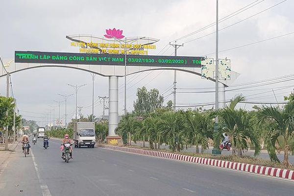 Huyện Hồng Ngự tập trung phát triển hạ tầng giao thông